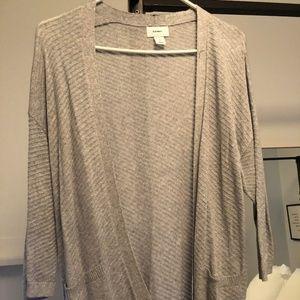 Old Navy Grey 3/4 Length Sleeve Cardigan